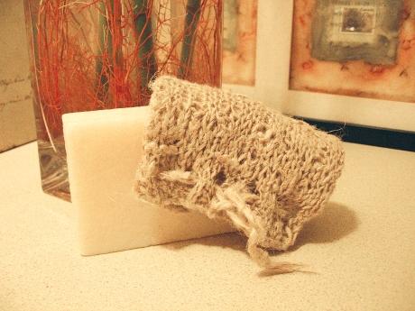 Hemp soapsock + handmade soap